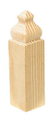 Alexandria Moulding Baseboard Trim Block Pine 4-1/2 in. H x 1-1/8 in. W x 1 in. D