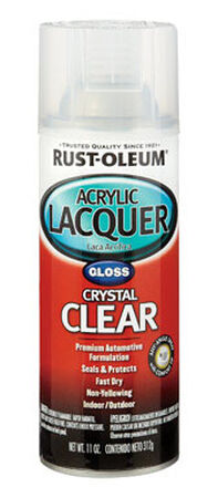 Rust-Oleum Clear Gloss Automotive Acrylic Lacquer Spray 12 oz.