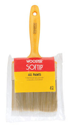 Wooster Softip 4 in. W Flat Nylon Polyester Paint Brush