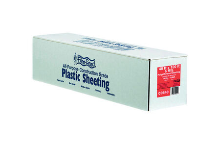 Berry Plastics Film-Gard Plastic Sheeting 6 mil x 40 ft. W x 100 ft. L Polyethylene Clear