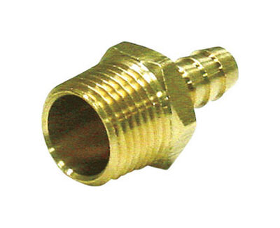 Ace Brass Adapter 1/8 in. Dia. x 3/8 in. Dia. Yellow 1 pk