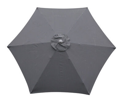 Living Accents 9 ft. Dia. Tiltable Patio Umbrella Black