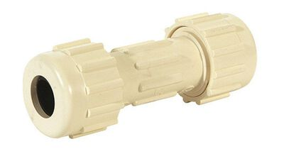 King Brothers Inc. 1/2 in. Dia. x 1/2 in. Dia. CPVC Lead-Free Compression Coupling