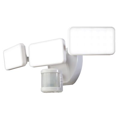 Heath Zenith White Plastic Wired Security Light Motion-Sensing LED 110 volts 35 watts