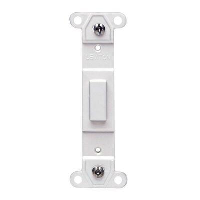 Leviton 1 gang White Nylon Blank Toggle Wall Plate 1 pk