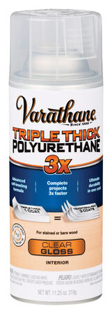 Varathane Triple Thick Transparent Polyurethane Clear Gloss 11.25 oz.