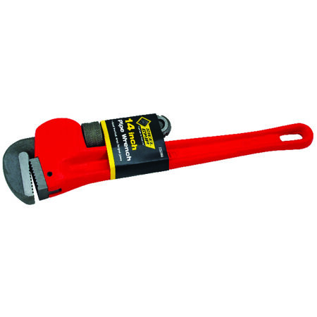 Steel Grip 14 in. Steel Pipe Wrench Red