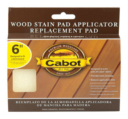 Cabot Wood Stain Pad Refill 6 in. W For Smooth Surfaces