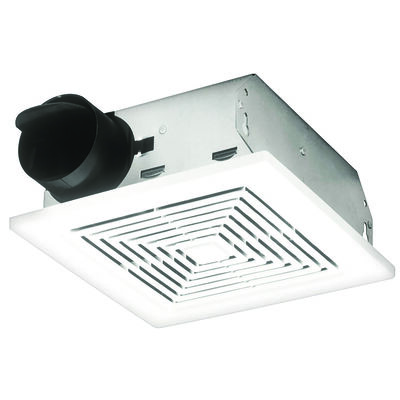 Broan Ventilation Fan Ceiling or Wall 9-1/4 in. D x 3-5/8 in. H x 9-1/2 in. W
