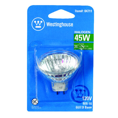 Westinghouse 45 watts 270 lumens 3050 K GU7.9/8.0 MR16 Halogen Floodlight Bulb White Floodlight