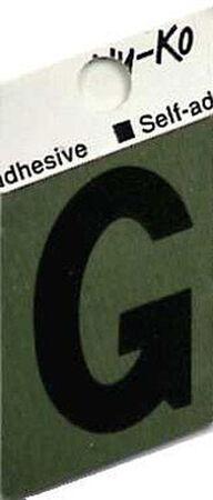 Hy-Ko Self-Adhesive Black 1-1/2 in. Aluminum Letter G