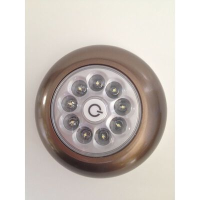 Fulcrum LIGHT IT LED Battery-Operated Puck Light Bronze