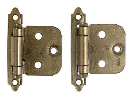 Amerock 2-3/4 in. L Self-Closing Hinge Burnished Brass
