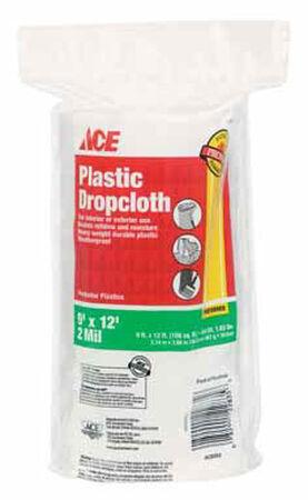 ACE Heavy Weight Plastic Drop Cloth 9 ft. W x 12 ft. L x 2 mil