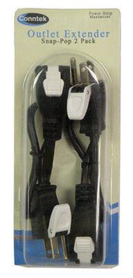 Conntek Snap Pop Outlet Extender 10 amps 125 volts 2 pk