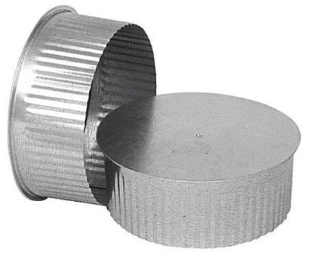 Imperial Manufacturing 4 in. Galvanized Steel Pipe End Cap 30 Ga.