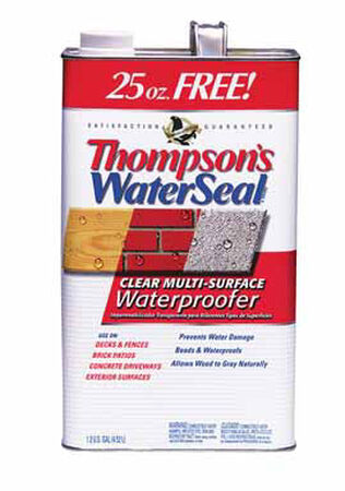 Thompson's Waterseal Water-Based Multi-Surface Waterproofer Clear Smooth 1.2 gal.