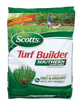 Scotts Turf Builder Lawn Fertilizer All Grass Types 5000 sq. ft. Granules 32-0-10