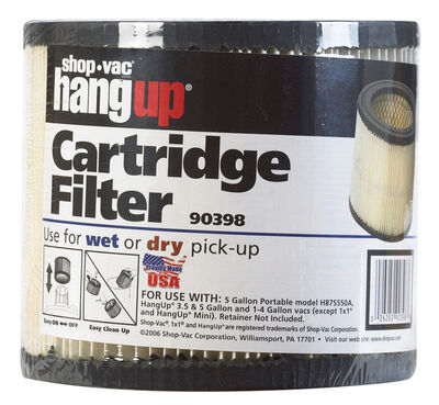 Shop-Vac HangUp Cartridge Filter 5 1 pk For Wet or Dry Pick Up