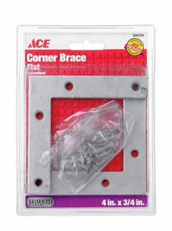 Ace Flat Corner Brace 4 in. x 3/4 in. Galvanized Steel