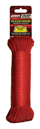 SecureLine 5/32 in. Dia. x 50 ft. L Braided Nylon Paracord Red