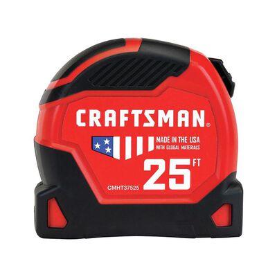 Craftsman 25 ft. L x 1.25 in. W Tape Measure Black/Red 1 pk
