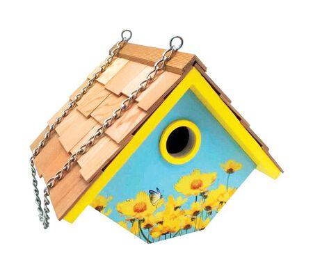 Home Bazaar 7 in. H Wood Bird House