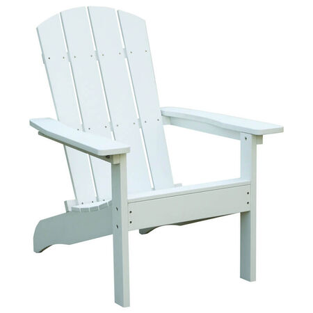 Living Accents 1 person White Resin Adirondack Chair