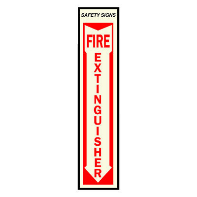 Hy-Ko English 18 in. H x 4 in. W Vinyl Sign Fire Extinguisher