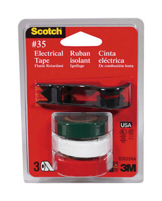 Scotch 1/2 in. W x 240 in. L Vinyl Electrical Tape Multicolored