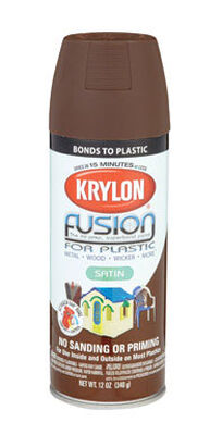 Krylon Espresso Satin Fusion Spray Paint 12 oz.