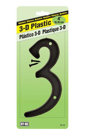 Hy-Ko Nail On Black Plastic Number 3 4 in.