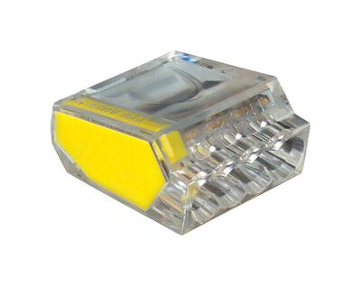 Gardner Bender PushGard Professional 10 pk Polycarbonate 22-12 AWG Yellow Wire Connector