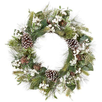 """24"""" Pinecone Berry Wreath"""