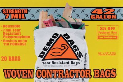 Demo Bags Ultimate Pro Pack 38 gal. Contractor Bags 20 pk