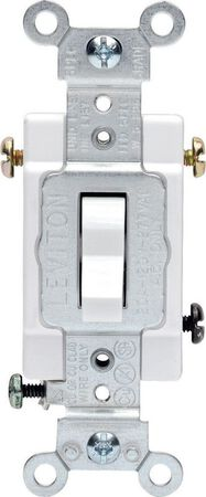 Leviton Commercial 20 amps Toggle 3-Way Switch Single Pole