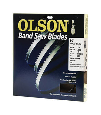 Olson 80 in. L x 0.3 in. W Carbon Steel Band Saw Blade