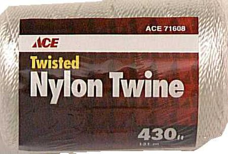 Ace 21 in. Dia. x 430 ft. L Twisted Nylon Mason Line White