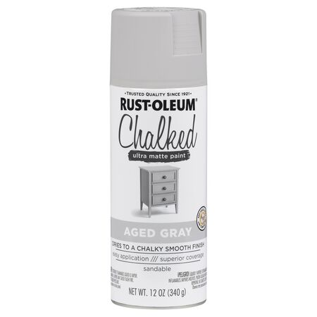 Rust-Oleum Chalked Ultra Matte Aged Gray Sprayable Chalk Paint 12 oz.