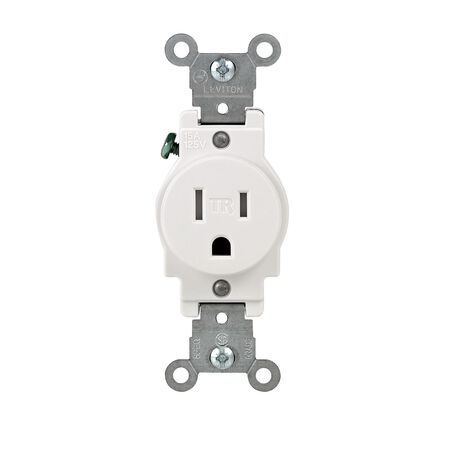 Leviton Electrical Outlet 15 amps 5-15R 125 volts White