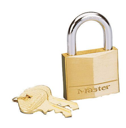 Master Lock 1-9/16 in. 4-Pin Cylinder Brass Padlock