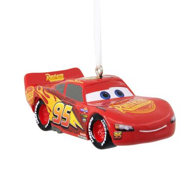 HALLMARK Cars 3 Lightning McQueen Christmas Ornament Multicolored Resin 2 in. 1 pk