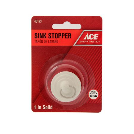 Ace 1 in. Dia. Sink Stopper Rubber Nickel Plated