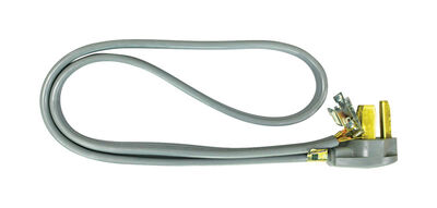 Ace 10/3 SRDT 250 volts Dryer Cord 3 Wire 4 ft. L Gray