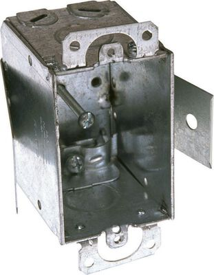 Raco 3 in. H Rectangle 1 Gang Switch Box 1/2 in. Gray Steel