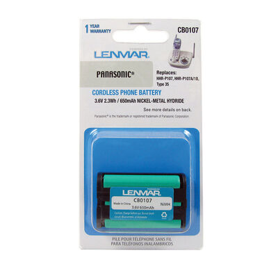 Lenmar NiMH 3.6 volts Cordless Phone Battery CB0107
