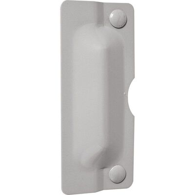 Prime-Line Latch Shield 3 in. H x 7 in. L Gray
