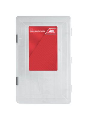 Ace 3-1/4 in. H x 14 in. L x 9-1/8 in. W Utility Box Plastic Clear