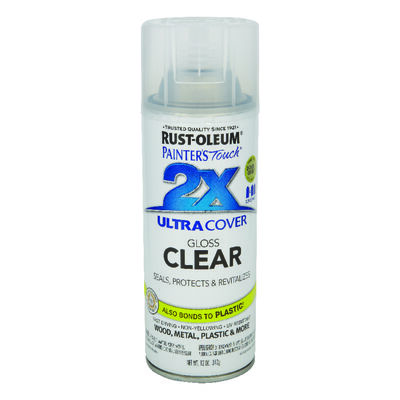 Rust-Oleum Painter's Touch Ultra Cover Clear Gloss 2x Enamel Spray 12 oz.