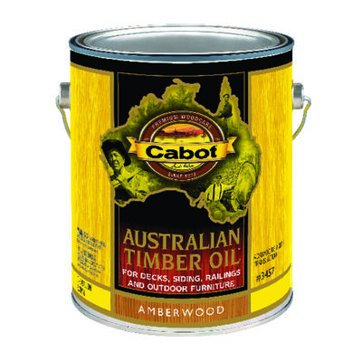 Cabot Transparent Penetrating Oil Formula Australian Timber Oil Amberwood 1 gal.